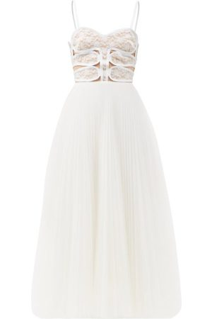 Christopher Kane Lace-bodice Pleated Tulle Dress - Womens