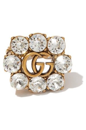 Gucci GG Crystal-embellished Ring - Womens - Crystal