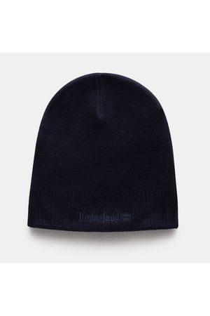 Timberland Logo beanie for men in navy navy, size one