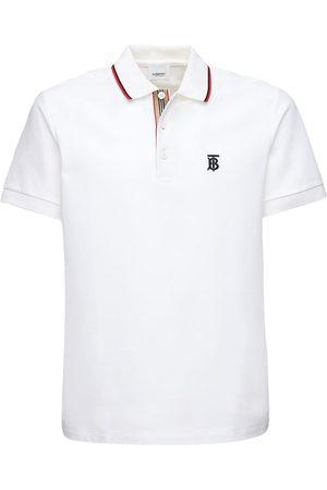 Burberry Tb Logo Embroidery Cotton Piqué Polo