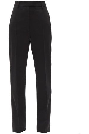 Prada High-rise Wool Gabardine Trousers - Womens