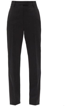 Prada High-rise Wool Gabardine Trousers - Womens