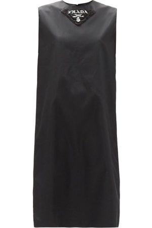 Prada Women Printed Dresses - Logo-print Re-nylon Gabardine Shift Dress - Womens