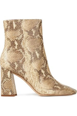 Sam Edelman Woman Codie Faux Snake-effect Leather Ankle Boots Animal Print Size 10