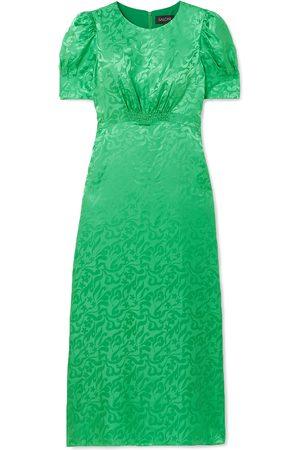 SALONI Women Midi Dresses - Woman Bianca Silk-satin Jacquard Midi Dress Size 10