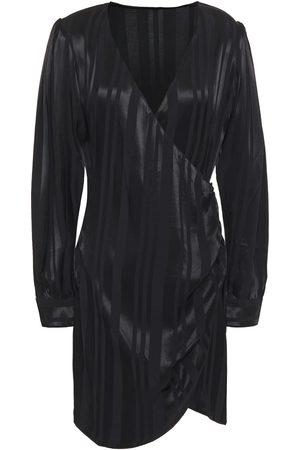 ANINE BING Women Dresses - Woman Wrap-effect Striped Jacquard Mini Dress Size S