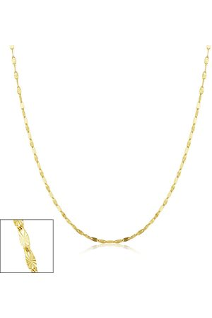 SuperJeweler 1.5mm Star Flat Link Chain Necklace, 18 Inches, (1 gram)