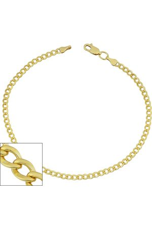 SuperJeweler 3.3mm Curb Link Chain Bracelet, 8.5 Inches, (3.50 g)
