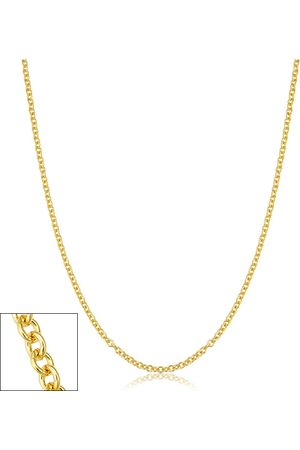 SuperJeweler 2.1mm Round Cable Link Chain Necklace, 24 Inches, (4.35 g)