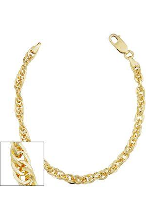 SuperJeweler Bracelets - 5.2mm Double Cable Link Chain Bracelet, 7.5 Inches, (7.10 g)
