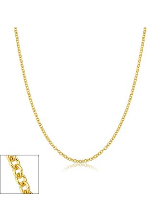 SuperJeweler 2.1mm Round Cable Link Chain Necklace, 16 Inches, (3 g)
