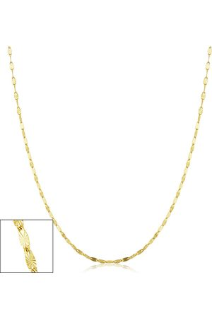 SuperJeweler Necklaces - 1.5mm Star Flat Link Chain Necklace, 24 Inches, (1.20 g)