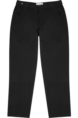 Lanvin Tapered-leg Wool Trousers