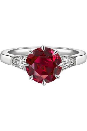 Pragnell Women Rings - Platinum diamond ruby Antrobus ring