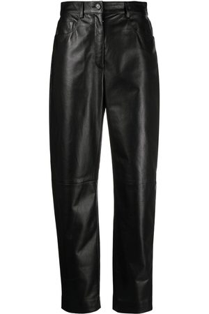 Dolce & Gabbana High-waisted leather trousers