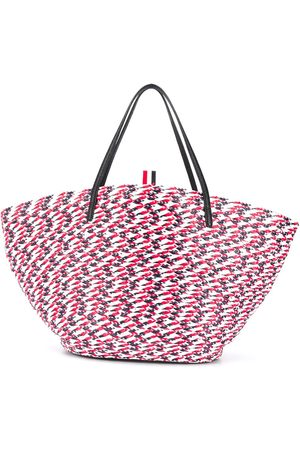 Thom Browne Women Handbags - Braided raffia basket bag