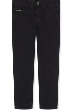 Dolce & Gabbana Painted stripe skinny jeans