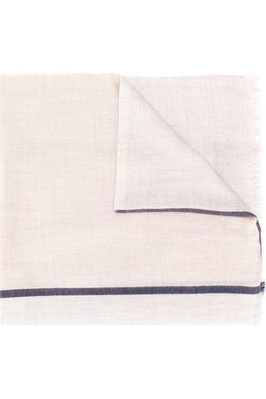 Brunello Cucinelli Contrasting stripe scarf - Neutrals
