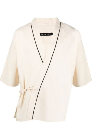 Alchemy Wrap-around cotton kimono - Neutrals