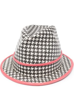 Dior Pre-owned houndstooth print fedora hat