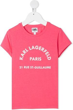 Karl Lagerfeld Rsg Address logo print T-shirt