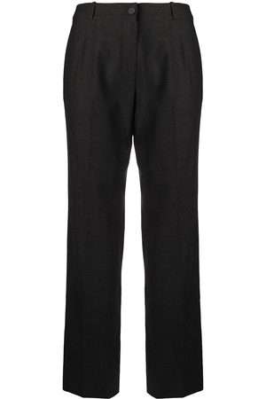 Chanel Pre-Owned Pleat detailing tailored trousers