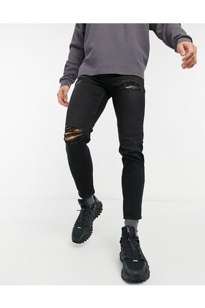 New Look Tapered jeans with rips in