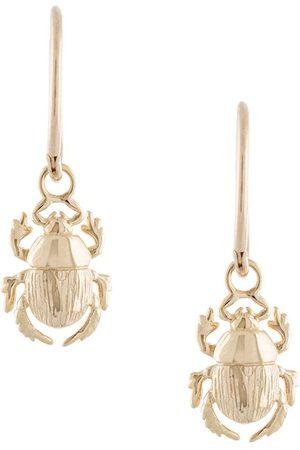 Karen Walker Beetle Sleepers hoop earrings