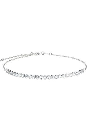 The Love Silver Collection Sterling Silver Cubic Zirconia Adjustable Bracelet