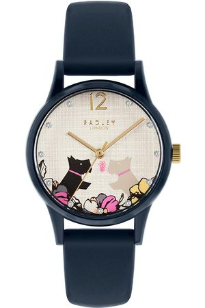 Radley Ry2983 Say It With Flowers Dial Navy Silicone Strap Ladies Watch