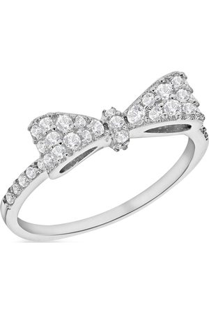The Love Silver Collection Sterling Cubic Zirconia Bow Ring