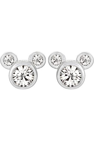 Disney Mickey Mouse Sterling Silver Crystal Stud Earrings
