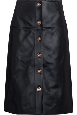 GABRIELA HEARST Anna leather midi skirt