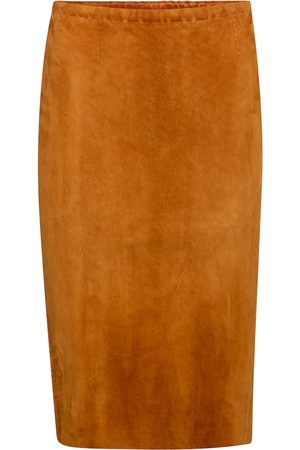 Stouls Gilda high-rise suede midi skirt