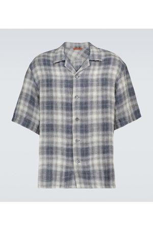 BARENA Men Short sleeves - Checked linen shirt