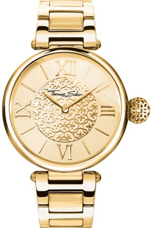 THOMAS SABO Women Watches - Women's watch golden Ornaments yellow gold coloured WA0308-264-207-38 MM