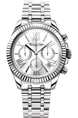 Thomas Sabo Women's Watch DIVINE CHRONO silver-coloured WA0253-201-201-38 MM