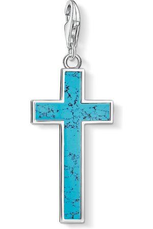 Thomas Sabo Charm pendant Turquoise cross turquoise Y0021-404-17
