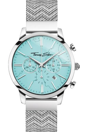 Thomas Sabo Men's watch Chronograph Arizona Spirit turquoise turquoise WA0366-201-215-42 MM