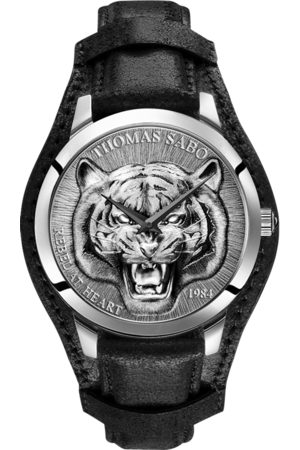 Thomas Sabo Men Watches - Men's watch Rebel Tiger 3D black- -coloured WA0367-203-201-42 MM