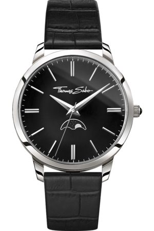 Thomas Sabo Men's watch Rebel Spirit Moonphase black WA0325-218-203-42 MM