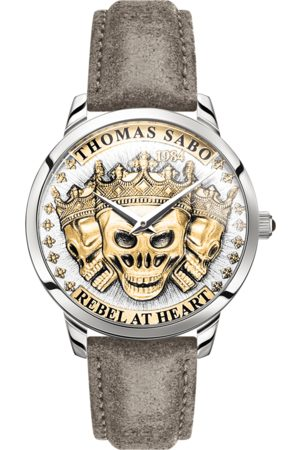 Thomas Sabo Men's watch Rebel Spirit 3D skulls, coloured WA0356-273-207-42 MM