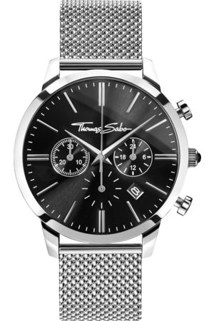 Thomas Sabo Men's watch REBEL SPIRIT CHRONO black WA0245-201-203-42 MM
