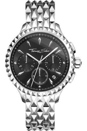 Thomas Sabo Women's watch REBEL AT HEART WOMEN CHRONOGRAPH silver black black WA0346-201-203-38 MM