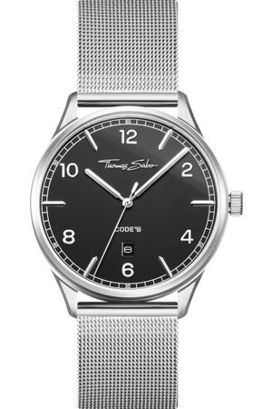 Thomas Sabo Watch unisex CODE TS silver black black WA0339-201-203-40 MM