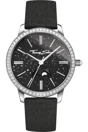 Thomas Sabo Women's watch Glam Spirit Moonphase black WA0327-209-203-33 MM