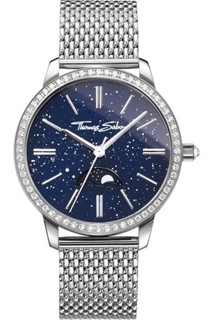 Thomas Sabo Women's watch Glam Spirit Moonphase blue WA0326-201-209-33 MM