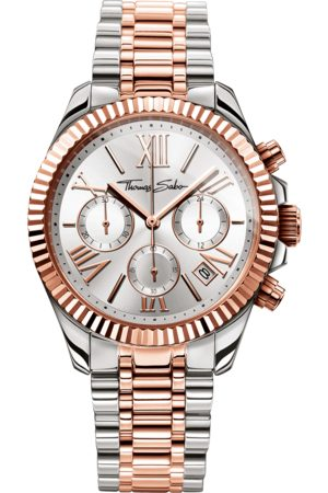 Thomas Sabo Women's Watch DIVINE CHRONO silver-coloured WA0221-272-201-38 MM