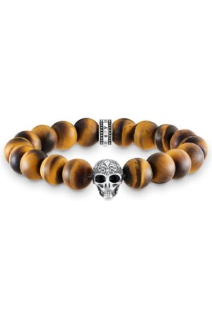 Thomas Sabo Power bracelet skull with lily A1701-826-2-L15