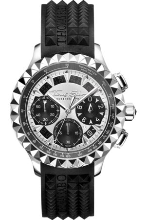Thomas Sabo Men's watch Rebel at Heart Chronograph black -coloured WA0357-214-201-43 MM
